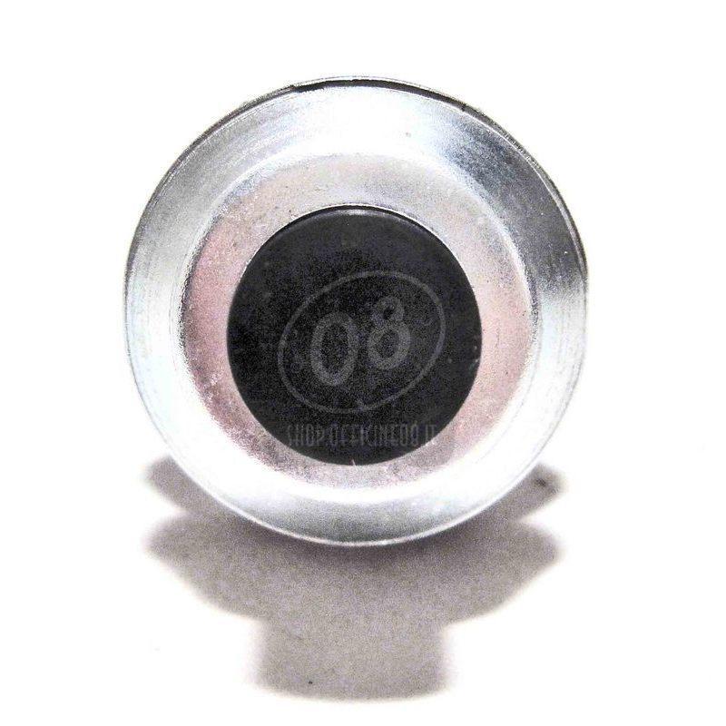 Pulsante a vite 22mm nero - Foto 3