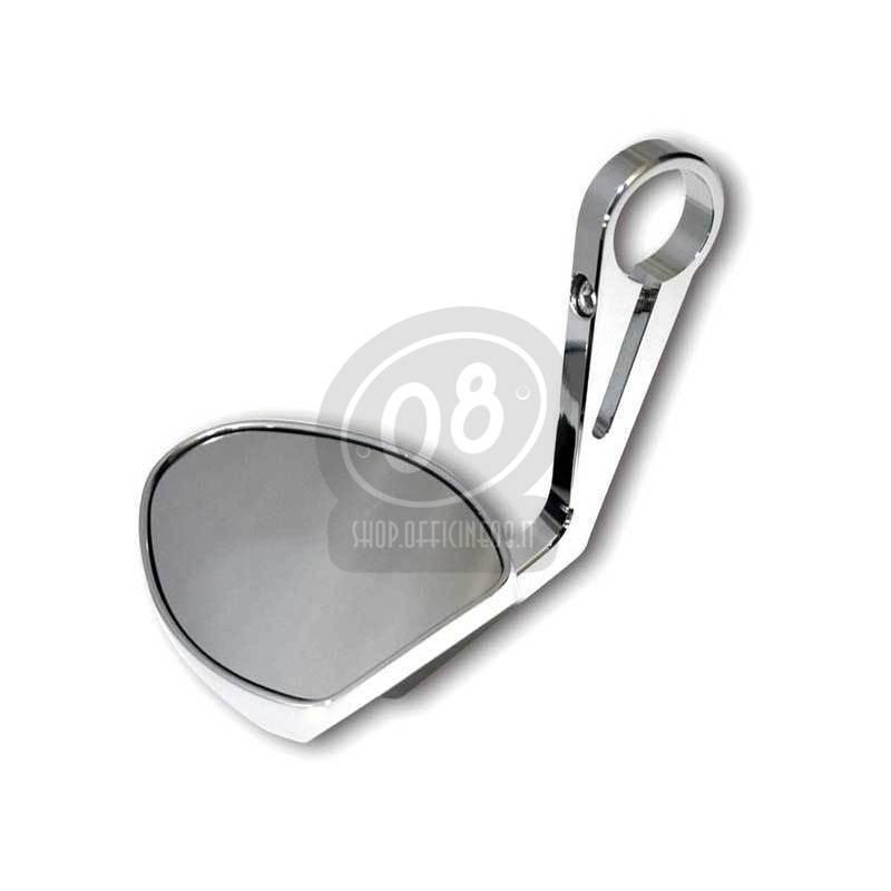 Specchietto retrovisore bar-end Highsider Oval cromo - Foto 2