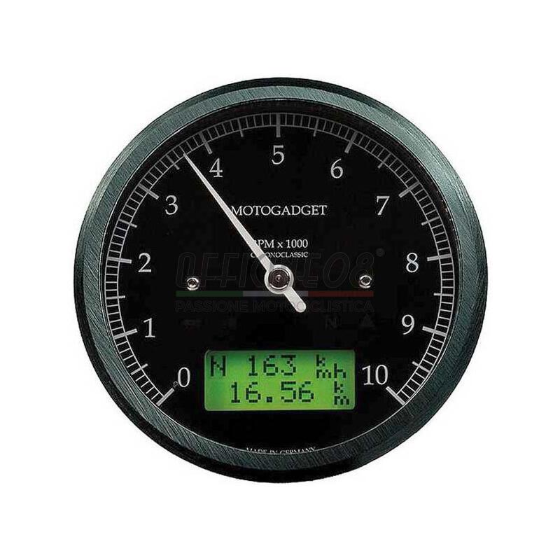 Ectronic multifunction gauge Motogadget ChronoClassic Tacho 10K