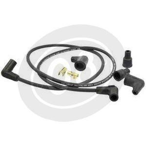 Ignition cable 7mm kit Dynatek black suppression 90°