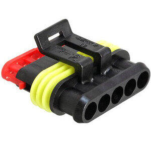 Electrical cable connector housing 5 pins SuperSeal female