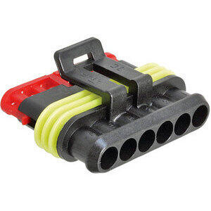 Electrical cable connector housing 6 pins SuperSeal female