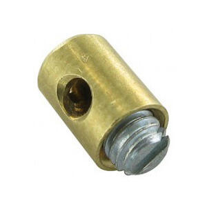 Cable locking nipple to screw throttle 5.5x7.5mm brass