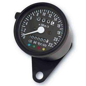 Mechanical speedometer Classic K=1.4 control lights body black dial black