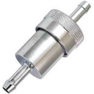 Fuel filter 8mm alloy grey