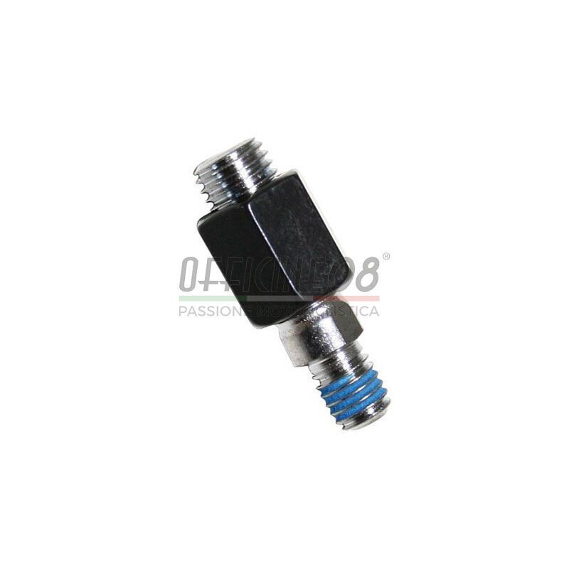 Adattatore filetto sinistro maschio-maschio M8x1,25-M10x1,25  nero