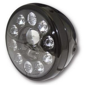 Faro anteriore 7'' Highsider Reno full led nero lucido