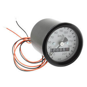 Mechanical speedometer MMB Classic mini K=1 M16 body black dial white