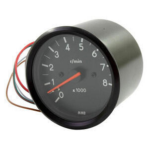 Electronic tachometer MMB Old Style 8K 1:1 body black dial black needle red