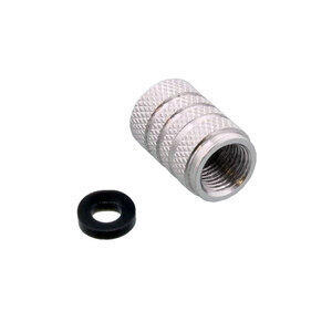 Tire valve stem caps Pro Bolt alloy grey