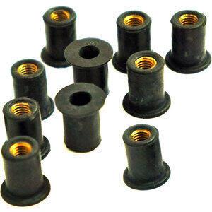 Dado elastico per carenature M5x14mm set 10pz