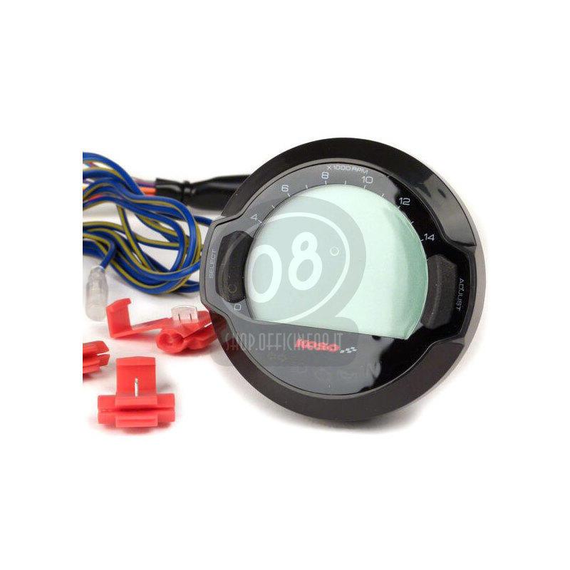 Electronic multifunction gauge Koso DL-03 black - Pictures 2