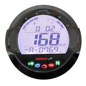 Electronic multifunction gauge Koso DL-03 black