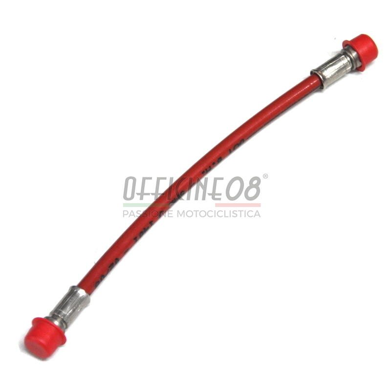 Aeronautical brake hose 100cm red