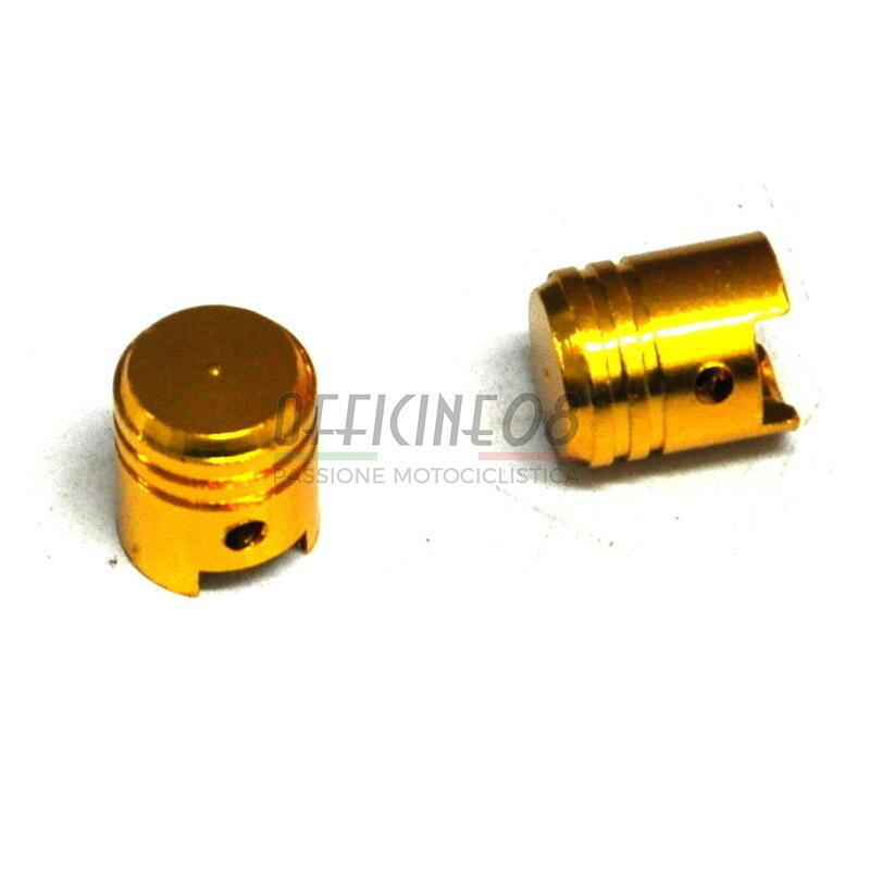 Coppia tappi valvole pneumatici pistoni oro