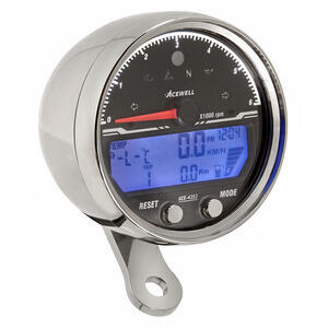 Electronic multifunction gauge AceWell Sport 4353 6K chrome