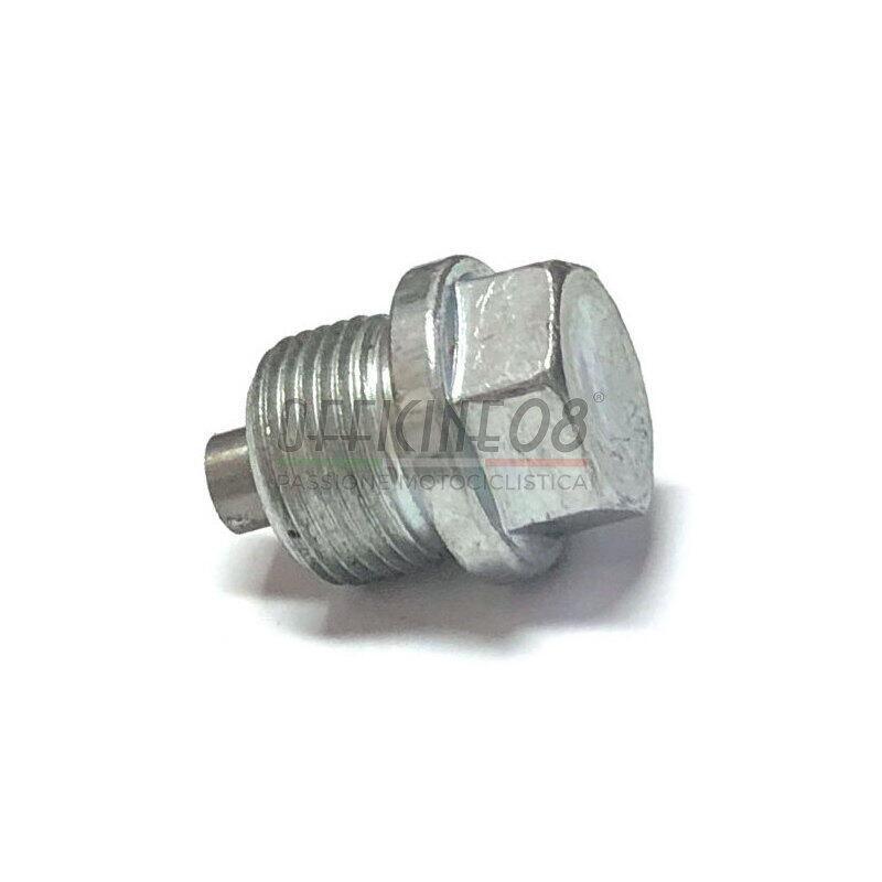 Bullone olio M20x1.5 magnetico acciaio grigio
