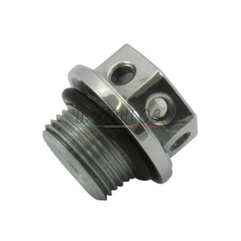 Bullone olio M10x1.5 alluminio grigio