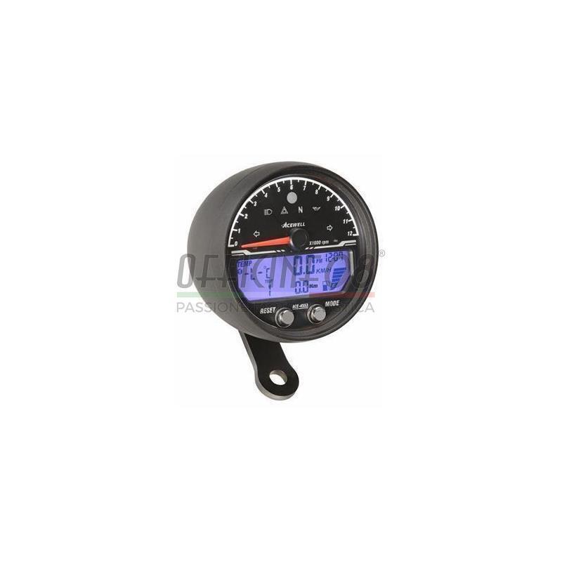 Ectronic multifunction gauge AceWell Sport 4553 12K black