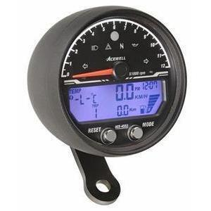 Electronic multifunction gauge AceWell Sport 4553 12K black