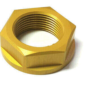 Steering head nut M25x1 alloy gold