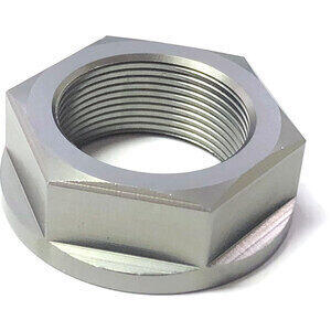 Dado canotto di sterzo M24x1 alluminio grigio