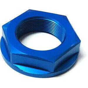 Dado canotto di sterzo M28x1 alluminio blu