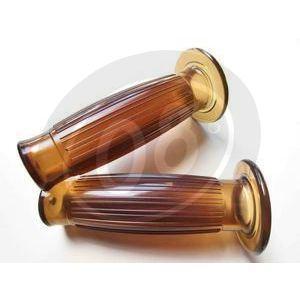 Coppia manopole Old Style 1'' marrone traslucido