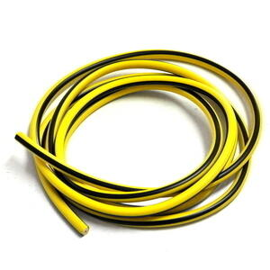 Ignition lead cable 7mm silicone yellow/black