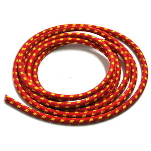 Ignition lead cable 7mm cotton braided red/yellow CNC