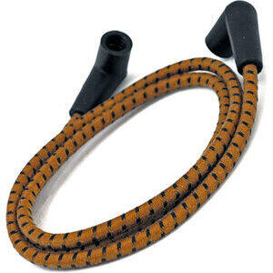 Ignition lead cable 7mm cotton braided brown/black
