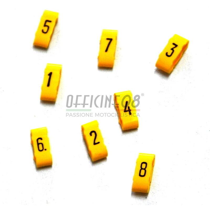 Numeri cavi candela 7mm giallo kit 8pz