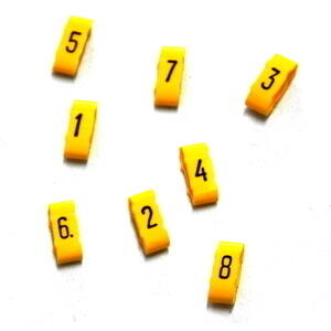 Ignition lead cable numbers 7mm yellow kit 8pc