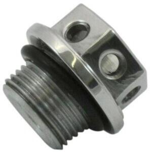 Bullone olio M20x1.5 alluminio grigio