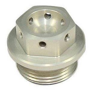 Bullone olio M22x1.5 alluminio grigio