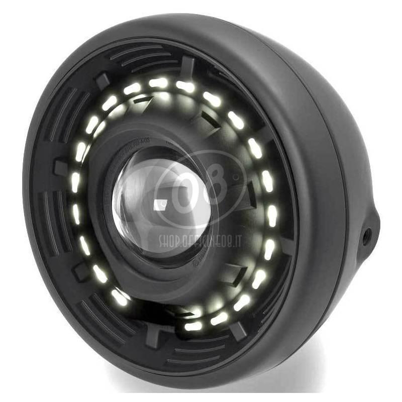 Led headlight 7'' Cyclope black - Pictures 2