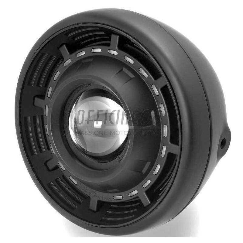 Faro anteriore 7'' Cyclope alogeno/led nero