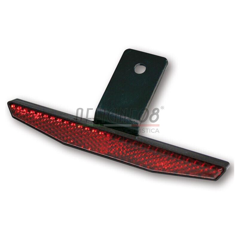 Catarifrangente posteriore 125x18mm completo rosso