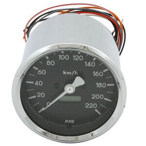 Electronic speedometer MMB Classic body chrome dial black