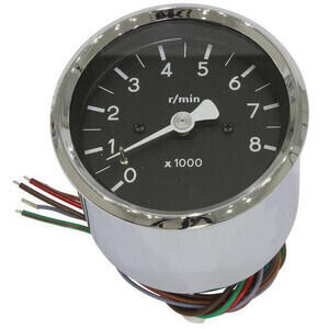 Electronic tachometer MMB Old Style 8K 1:1 body chrome dial black