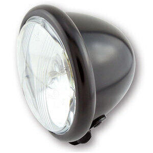 Halogen headlight 4.5'' Bates black matt lens pattern