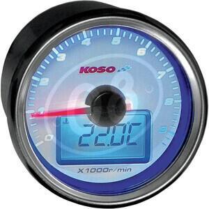 Contagiri elettronico Koso GP D55 9K fondo bianco