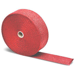 Exhaust pipe wrap 416° red 50mm 5mt