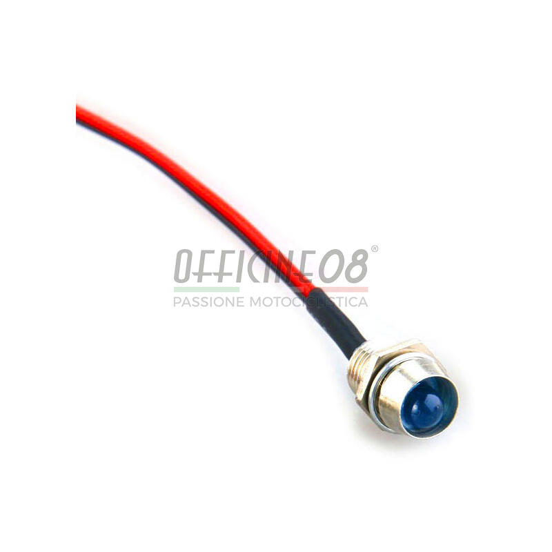 Spia led Old Style 22mm blu