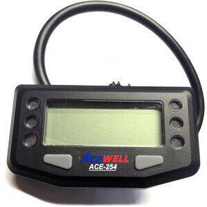 Contachilometri elettronico AceWell 254 nero
