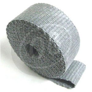 Exhaust pipe wrap 640° grey 50mm 5mt
