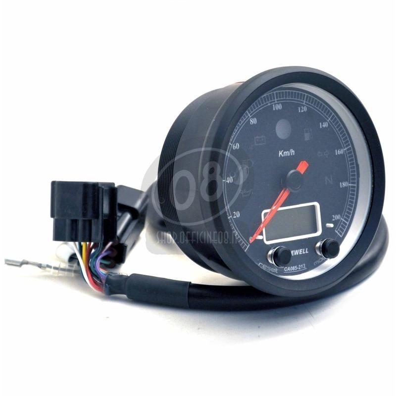 Electronic multifunction gauge AceWell Classic 213-AS 200Km/h black - Pictures 5