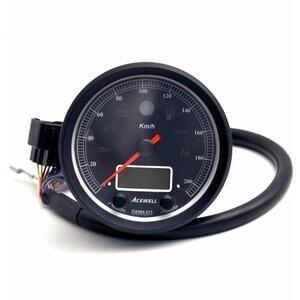 Electronic multifunction gauge AceWell Classic 213-AS 200Km/h black