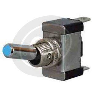 Interruttore on-off 12mm illuminato blu