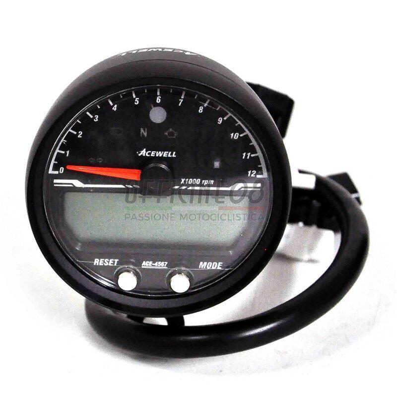 Ectronic multifunction gauge AceWell Sport 4567 12K black